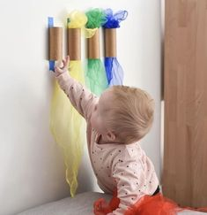 Even better than buying materials for a DIY project is reusing items you already have. Here are some ideas for upcycling projects to offer Montessori activities without consuming more! Baby Learning Activities, Infant Sensory Activities, Baby Sensory Play, Montessori Activities, Baby Play, Montessori Materials, Sensory For Babies, Gross Motor Activities, Kids Learning