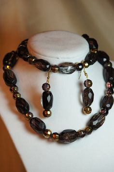 Smokey Quartz by amberscustomdesigns on Etsy, $50.00