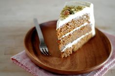 Carrot Cake with maple cream cheese frosting.... For my Carlos!