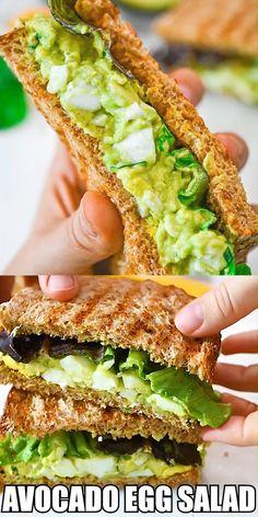 Quick Snacks, Healthy Snacks, Healthy Eating, Tasty Videos, Food Videos, Vegetarian Recipes, Cooking Recipes, Healthy Recipes, Avocado Egg Salad