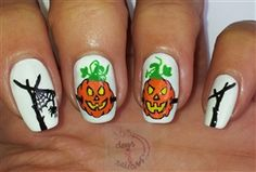 By Margriet Sijperda - Halloween pompoenen - Halloween Nail Art - Gallery - Nail Artsy