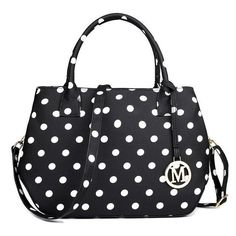 Vintage Ladies Polka Dot Shoulder Bag