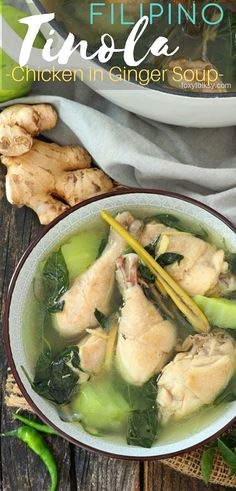 Chicken Tinola (Tinolang Manok) - A simple everyday Filipino soup that is very healthy and flavorful. This Tinola recipe is made wi - Filipino Recipes, Asian Recipes, Healthy Recipes, Filipino Food, Chayote Recipes, Chicken Recipes, Easy Chicken Tinola Recipe, Paleo, Keto