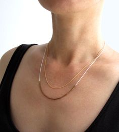 Layered Silk & Chain Necklace by Hyjewelry on Scoutmob