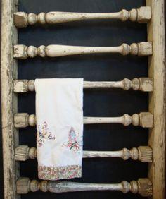 Vintage Weathered Balustrade 6 Spindle Wood by ACottageInTheCity, $150.00