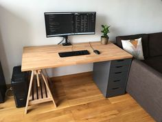 So make sure you design your home office exactly how you want from the perfect colors. See more ideas about Desk, Home office decor and Home Office Ideas. Home Office Layouts, Home Office Setup, Desk Setup, Room Setup, Home Office Desks, Office Ideas, Office Decor, Home Theater Design, Home Theater Seating