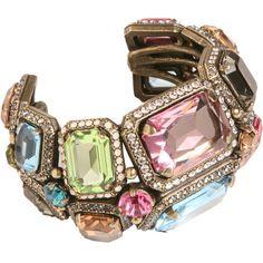 Jewelry Diamond : Lanvin Strass & Crystal Tutti Frutti Cuff