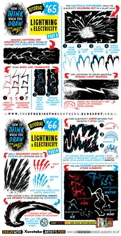 See above for today's tutorial, which looks at how to THINK When you draw LIGHTNING and ELECTRICITY, great for electrical effects and general zapping I recommend you use this tutorial in conjunctio...