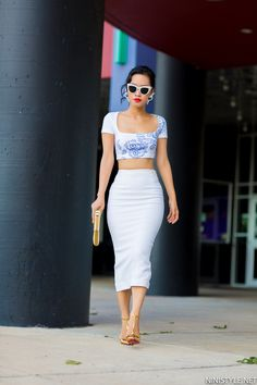 2820aaa6d High waist skirt midi top :O. Nini style.. this is perfection