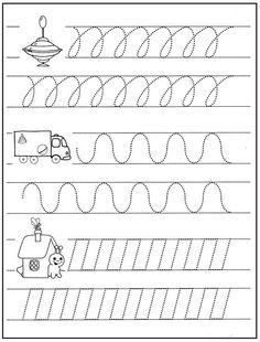 προγραφικές ασκήσεις Preschool Writing, Preschool Learning Activities, Preschool Lessons, Writing Activities, Kids Learning, Writing Practice Worksheets, Kindergarten Math Worksheets, Pre Writing, Writing Skills