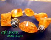 15% OFF Sale! Coupon Code: LIVEJOYOUSLY Celest Crystals Citrine 23x15x12mm avg. each natural faceted chunks sterling silver bracelet CAD$250 Click on the link to Buy it Now! - https://www.etsy.com/shop/CelestChong?ref=hdr_shop_menu