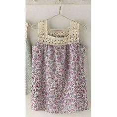 crochet & fabric tunic