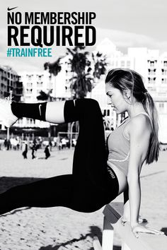 Let your city fuel your training. #trainfree #nike