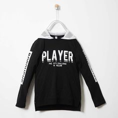 We offer boys hooded sweatshirt online in different sizes at Fashion Playground. Our sweatshirt online features text in front and on the arms. Sweatshirts Online, Hooded Sweatshirts, Boys Clothes Online, Black Hooded Sweatshirt, Playground, Adidas Jacket, Hoods, Arms, Jackets