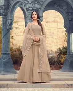 Dusty Nude Anarkali Gown