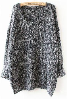 Yeni 2.014 bahar kadın giysileri üstleri moda boy kazak rahat gri uzun kollu kazaklar gevşek kazak kazak örme