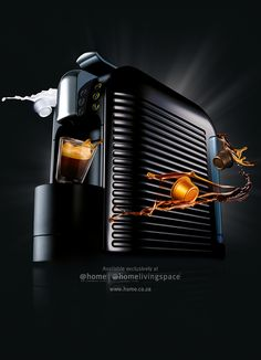 Espresto Wave (Black) coffee machine. Available in all @home and @homelivingspace stores. www.home.co.za