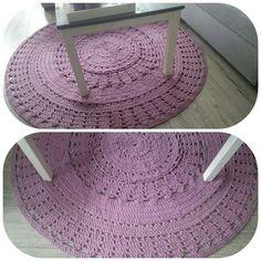 Knitted carpet zpahetti (hoooked)