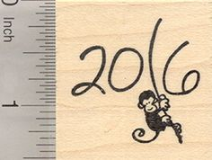2016 Year of the Monkey Rubber Stamp Swinging from Vine *** Read more reviews of the product by visiting the link on the image.