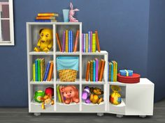 mysimlifefou:  Don't YOU remember this cute bookshelf from ts3 generation I use it often and in ts4 I don't find a bookshelf that i rely like so I convert this cutie I hope you find it useful and you like it as I do.. as you can see it have just three color.DOWNLOAD    tag me if you use my stuff and please you now all the rules so there is no need to repeat