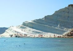 The Most Amazing Beaches in the World via @mydomaine: Scala dei Turchi, Realmonte, Italy