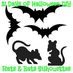 Rats & Bats Free Silhouette Templates