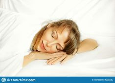 Photo about Beautiful european woman sleeping on the bed on the white bedclothes, with her hands under the head. Image of morning, bedtime, lifestyle - 145784517 Images Of Morning, Pictures For Sale, Sleeping Women, Bedclothes, White Sheets, White Bedding, Bedtime, Free Stock Photos, Hands