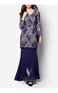 Baju Kurung Lace, Muslim Dress, Islamic Fashion, Cute Dresses, Bride Dresses, Kebaya, Western Wear, Ideias Fashion, Fashion Ideas