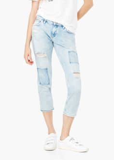 Cropped relaxed jeans | Mango | 79.99