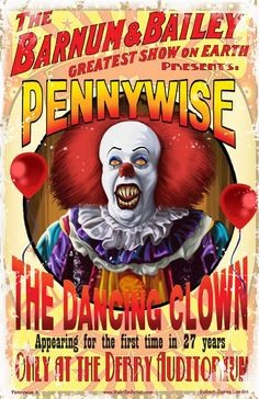Tim Curry Pennywise, Pennywise Poster, It Pennywise, Halloween Circus, Halloween Poster, Halloween Horror, Clown Horror, Arte Horror, Horror Posters