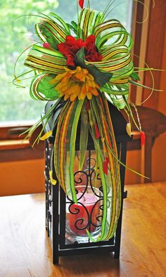Bright Summer Lantern Swag Floral Arrangement by Trendy Wreath Boutique on Etsy, $49.99 https://www.etsy.com/listing/153774606/lantern-swag-lantern-swag-floral?ref=shop_home_active