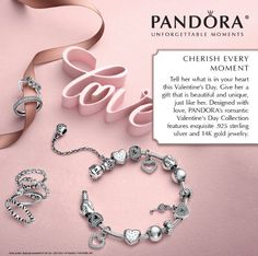 Valentine's Day collection from #Pandora available in stores. #walkonwaterfl #lakemaryfl #winterparkfl #gifts #accessories #charms #valentine
