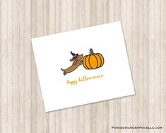 Happy Halloweenie, Thank You Notes, I Am Happy, Color Show, Note Cards, Custom Design, Initials, Monogram, Messages