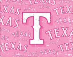 Rangers Baseball, Texas Rangers, Breast Cancer Support, American League, Favorite Color, Neon Signs, Seasons, Pink, Creative Ideas