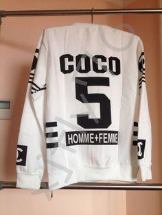 FREE SHIPPING RAP street Hip Hop HOMME FEMME White Crewneck Sweatshirt Zipper