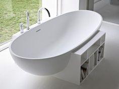 Vasca da bagno centro stanza ovale in Korakril™ EGG - Rexa Design