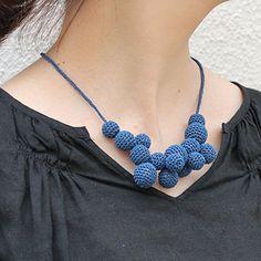 Grape bunch crochet necklace KIT