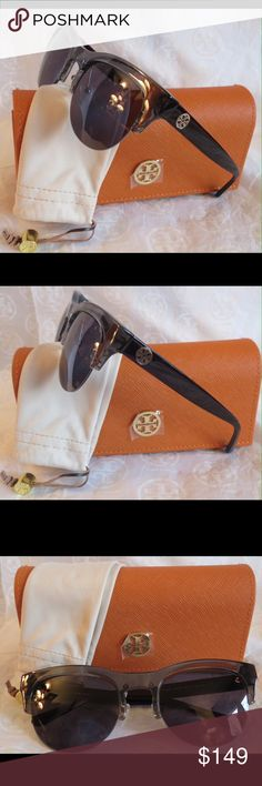 NWT Tory Burch  Purple Gray Sunnies TY9045 NWT Tory Burch Sunnies TY9045 15442s Time for some new fabulous authentic designer shades!!  Frame: Gray   Lens: Purple  These are PERFECT Flawless NEVER even worn or tried on. It's just reflections that might make they look like there are issues, they are again Perfect!  Comes with original bag with tags from Luxottica, case and dust bag. All of my items are Guaranteed 100% Genuine I do not sell FAKES of any kind No Trades (26S093) Tory Burch…