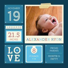 birth announcements - Blue Lovin' by Jennifer Pace