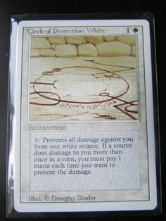 MTG: MAGIC THE GATHERING, REVISED (3RD)EDITION - CIRCLE OF PROTECTION WHITE NM! #MTG