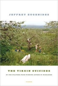 Virgin Suicides / Jeffrey Eugenides. In a quiet suburb of Detroit, the five Lisbon sisters--beautiful, eccentric, and obsessively watched by the neighborhood boys--commit suicide one by one over the course of a single year. As the boys observe them from afar, transfixed, they piece together the mystery of the family's fatal melancholy, in this hypnotic and unforgettable novel of adolescent love, disquiet, and death.