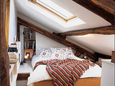 8 Powerful Tips: Attic Ideas Apartment attic design railings.Attic Desk Drawers how to finished attic. Attic Loft, Loft Room, Bedroom Loft, Bedroom Rustic, Attic House, Attic Library, Attic Ladder, Attic Office, Attic Playroom