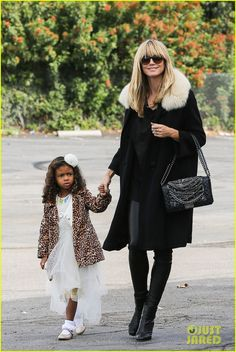 Heidi Klum keeps it super chic as she heads to a birthday party for her son Johan, 7, at K1 Speed Indoor Go Kart Racing on Saturday afternoon (November 23) in Long Beach, Calif.  The 40-year-old Project Runway host was joined by her boyfriend Martin Kirsten, her ex-hubby Seal, and their kids Leni, 9, Henry, 8, Lou, 4