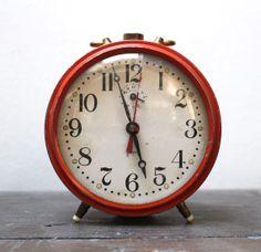 Vintage French Japy alarm clock by SAMANTHATENN on Etsy, $40.00