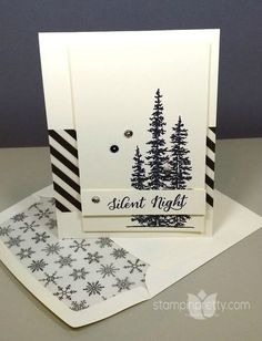 A neutral palette is enchanted by these evergreen trees from Stampin' Up! Wonderland stamp set. Fresh ideas & paper crafting tips daily.