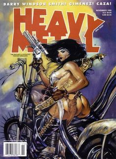 Heavy Metal Magazine - Vol. Heavy Metal Comic, Heavy Metal Rock, Comic Book Artists, Comic Book Characters, Comic Books, Metal Magazine, Magazine Art, Magazine Covers, Pinup