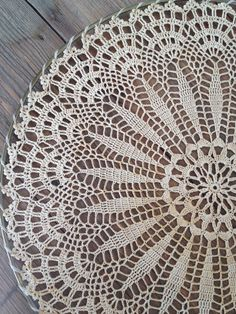 LARGE 16 inch Vintage Doily in Embroidery Hoop by FoundBlessings