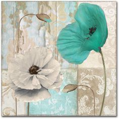 Trademark Art 'Beach Poppies III' by Color Bakery Framed Graphic Art Canvas Artwork, Vintage Flowers, Grey Flowers, Flower Art, Poppies, Decoupage, Graphic Art, Fine Art Prints, Wall Art