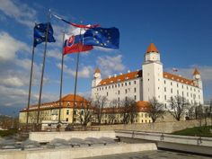A magnificent angle of #Bratislava Castle on a rather windy day in #Slovakia