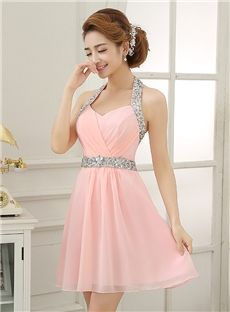 Simple A-Line Sweetheart Under 100 Knee-Length Pink Homecoming Dress